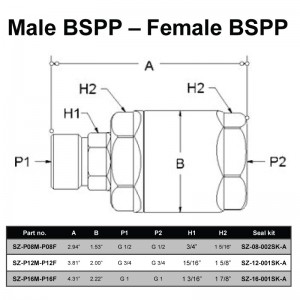 Male BSPP – Female BSPP